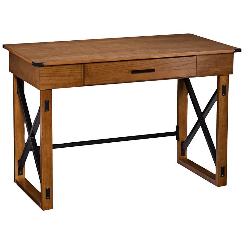 "Cas 48 1/2"" Wide Distressed Pine Lift-Top Desk"
