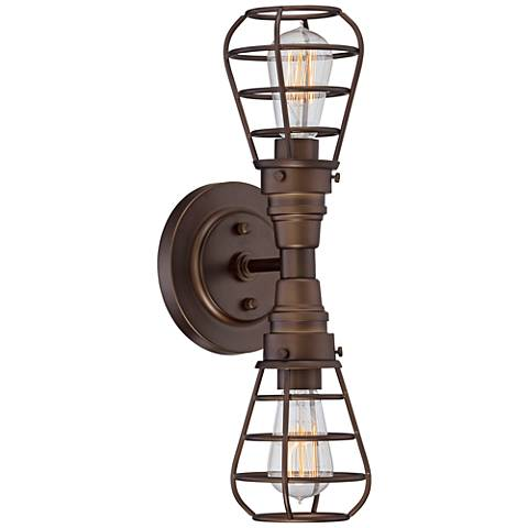 "Bendlin Industrial 18""H Oil-Rubbed Bronze 2-Light LED Sconce"