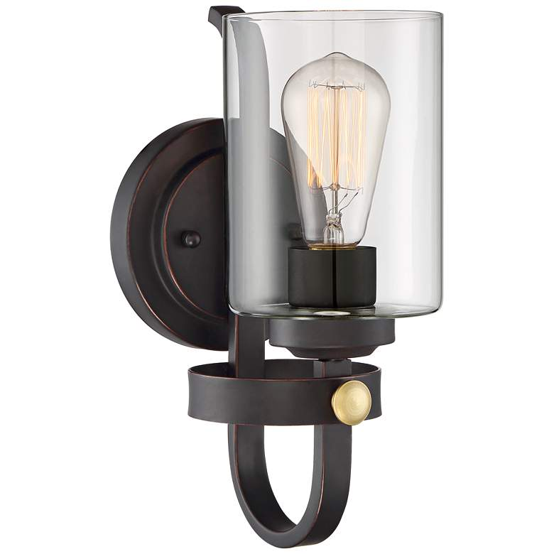 "Eagleton 12"" High Oil-Rubbed Bronze LED Wall Sconce"