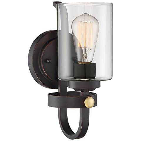 """Eagleton 12"""" High Oil-Rubbed Bronze LED Wall Sconce"""