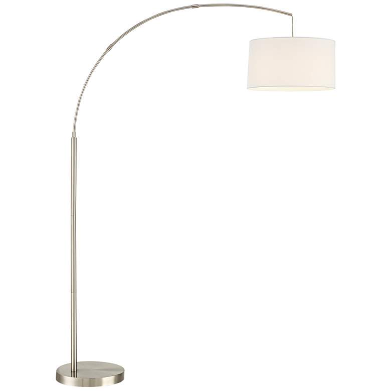 Cora Brushed Nickel Arc Floor Lamp