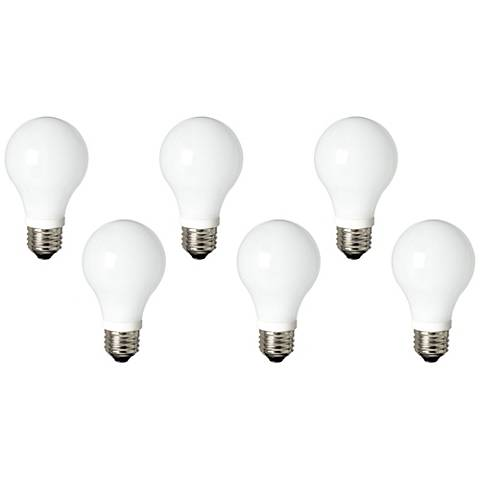 60W Equivalent Frosted 7W LED Dimmable Standard 6-Pack