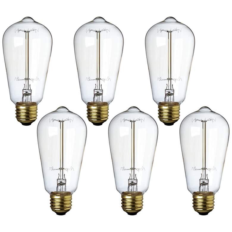 Tesler 25W Standard Edison Style Decorative Bulb 6-Pack