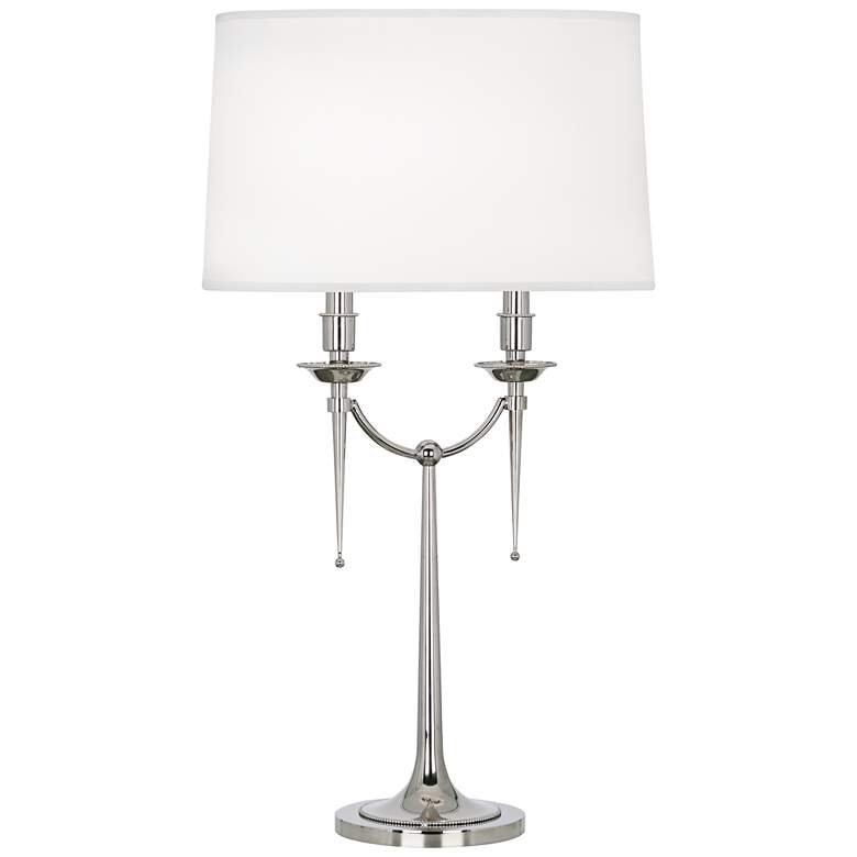 Robert Abbey Cedric Polished Nickel Table Lamp