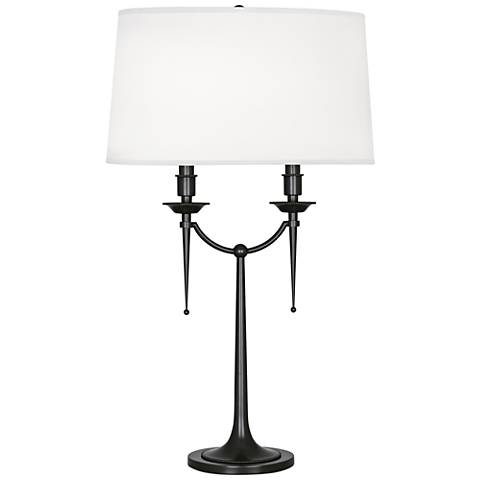 Robert Abbey Cedric Deep Patina Bronze Table Lamp