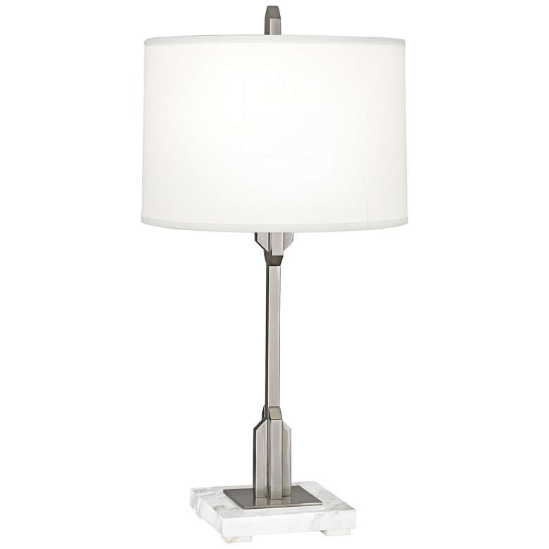 Robert Abbey Empire Polished Nickel Accent Table Lamp