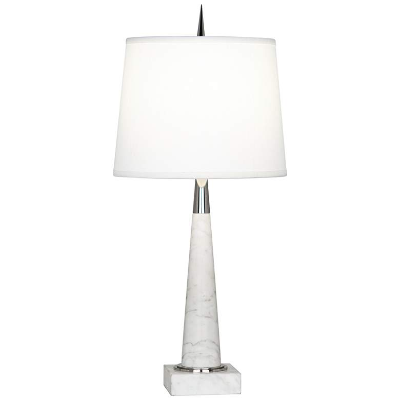 Robert Abbey Florence Carrara Marble Accent Table Lamp