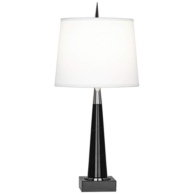 Robert Abbey Florence Black Marble Accent Table Lamp