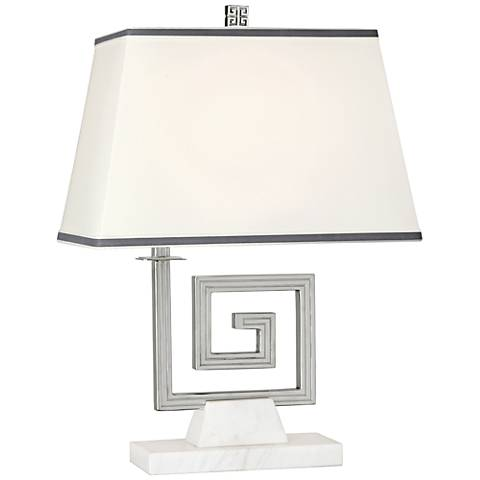 Jonathan Adler Mykonos Polished Nickel Accent Table Lamp