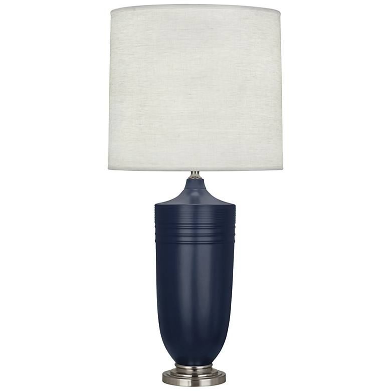 Hadrian Matte Midnight Blue and Antique Nickel Table Lamp