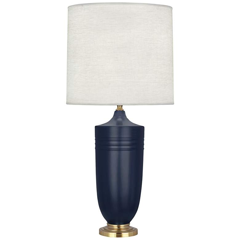 Hadrian Matte Midnight Blue and Modern Brass Table Lamp