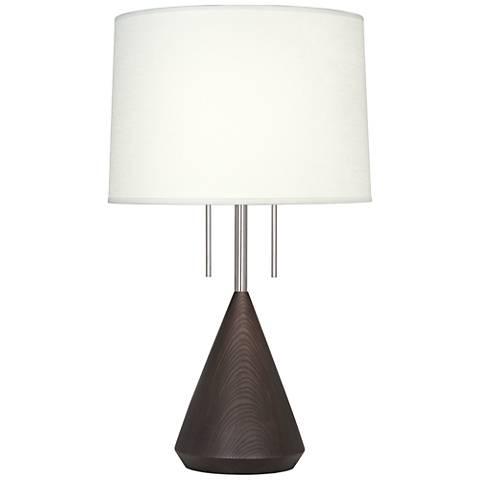 Robert Abbey Wally Dark Walnut Table Lamp