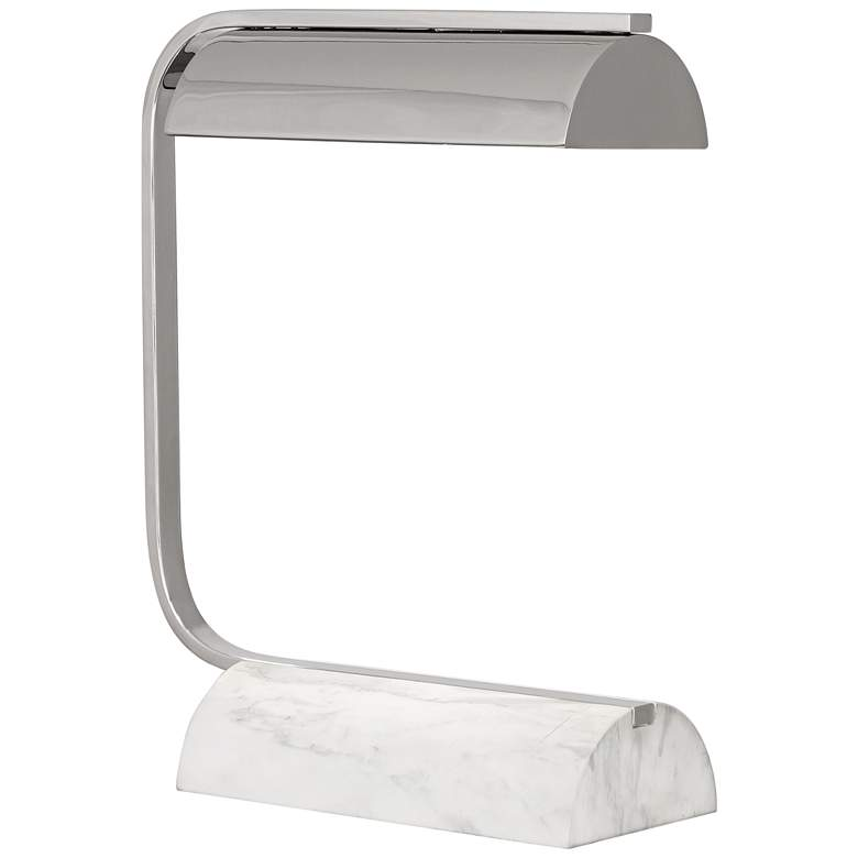Robert Abbey Julian Polished Nickel and Marble Desk Lamp