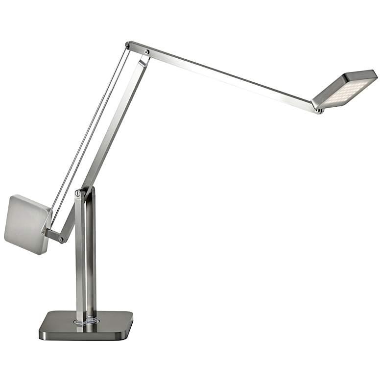 Cooper Brushed Steel Adjustable LED Desk Lamp