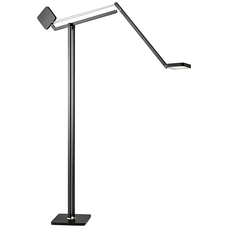 Cooper Matte Black Adjustable LED Floor Lamp