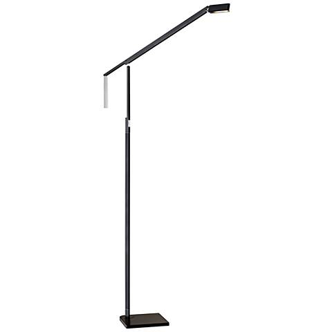 Lazzaro Black and Chrome Adjustable LED Floor Lamp