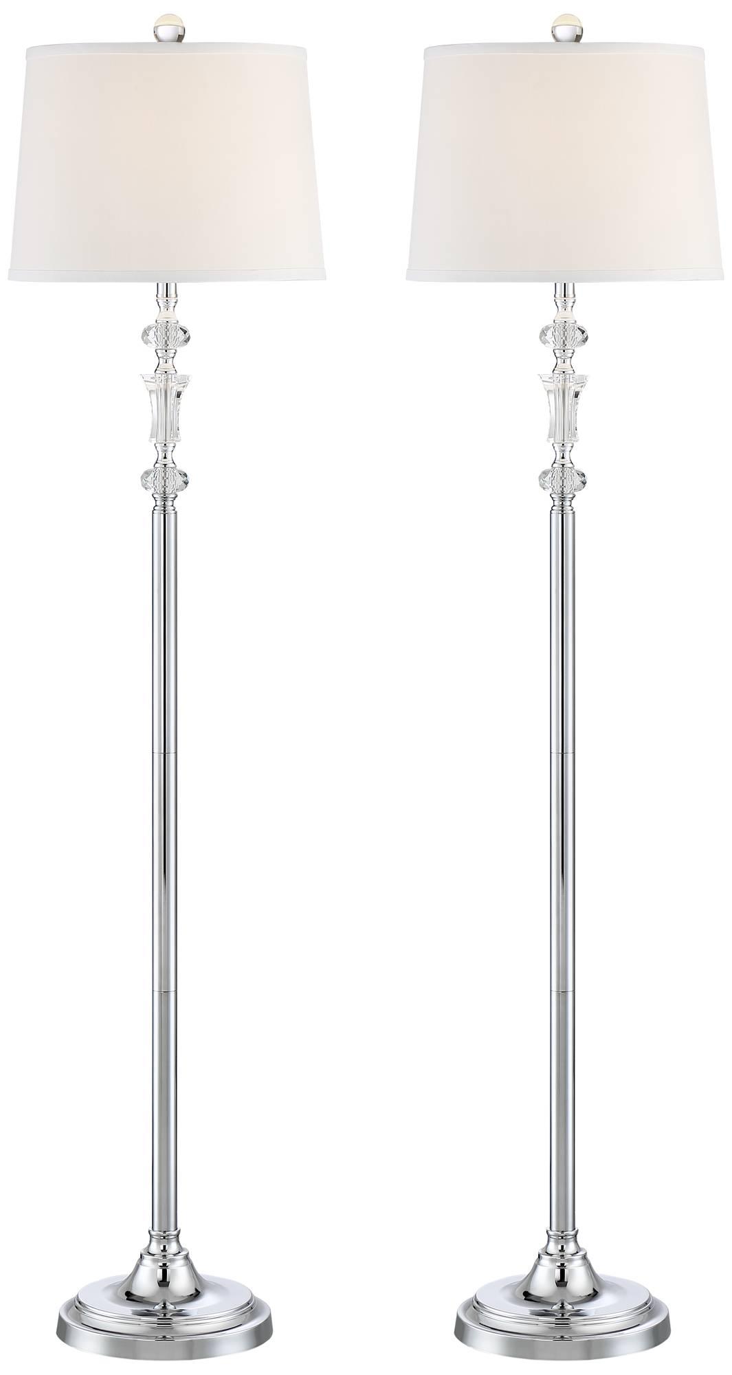 Montrose floor lamp crystal and metal set of