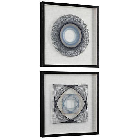"String Duet 2-Piece 23 3/4"" Square Framed Wall Art Set"