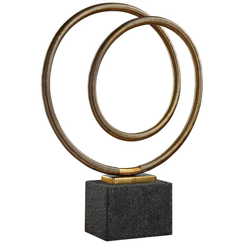 """Oja 27 1/4"""" High Modern Gold Metal Sculpture by Uttermost"""