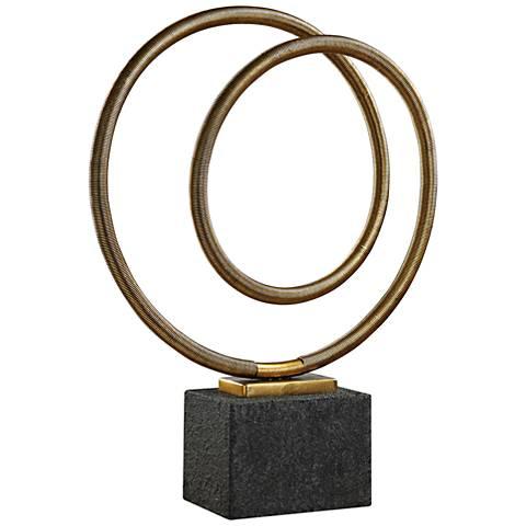 "Uttermost Oja 27 1/4""H Metallic Gold Leaf Metal Sculpture"