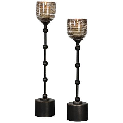 Lula Dark Oil Rubbed Bronze 2-Piece Votive Candle Holder Set