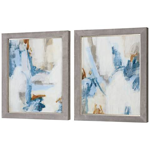 """Uttermost Intermittent 2-Piece 30 1/4""""H Framed Wall Art Set"""
