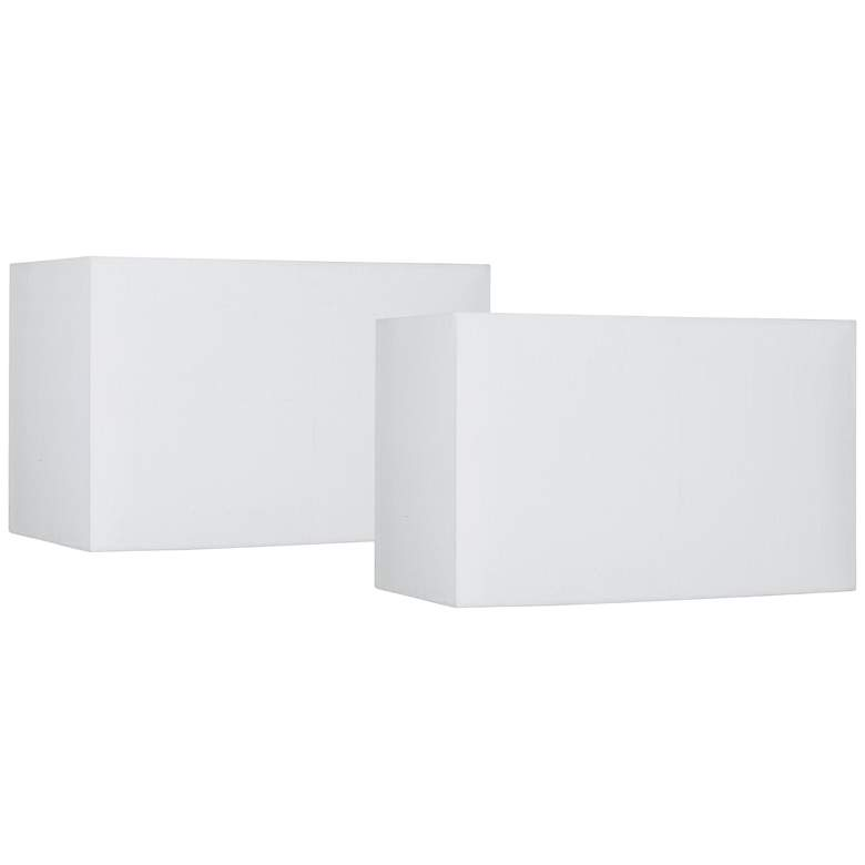 White Set of 2 Hardback Shades 8/16x8/16 (Spider)