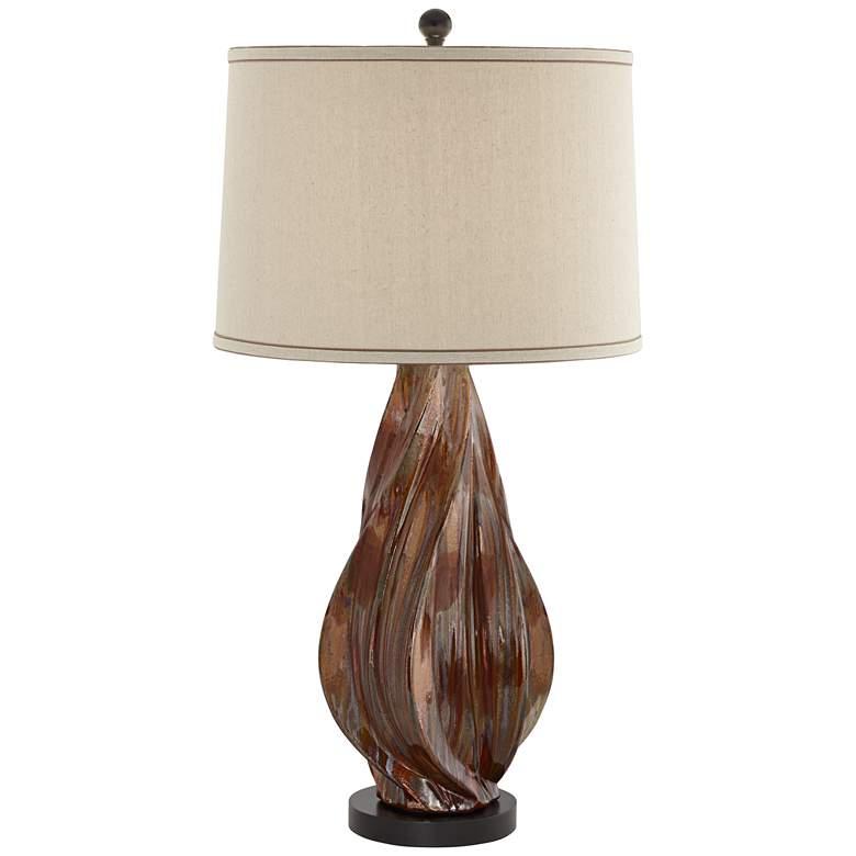 Teresa Copper Brown Modern Ceramic Table Lamp