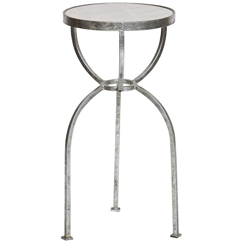 """Jonna 18 3/4"""" Wide Silver Leaf Metal Accent Table"""