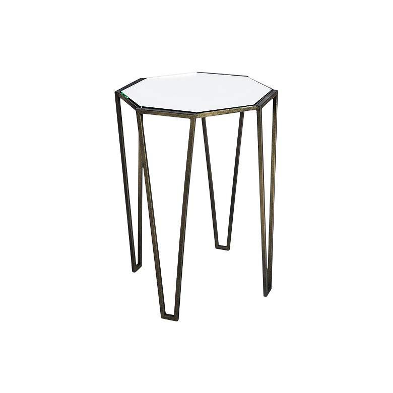 "Allex 18"" Wide Antique Bronze Octagonal Accent Table"