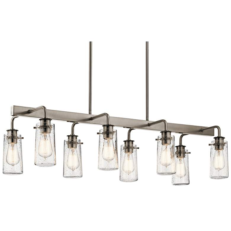 "Braelyn 42""W Classic Pewter Kitchen Island Light Chandelier"