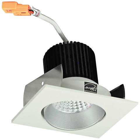 "Nora Iolite 2"" Haze and White Square Cone LED Retrofit Trim"