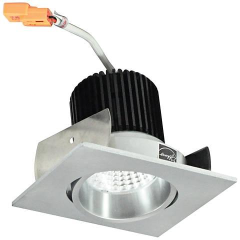 """Nora Iolite  2"""" Natural Metal Square Cone LED Retrofit Trim"""