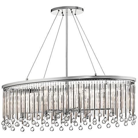 Kichler piper 36 wide chrome oval pendant light 35k18 lamps plus kichler piper 36 wide chrome oval pendant light aloadofball Images