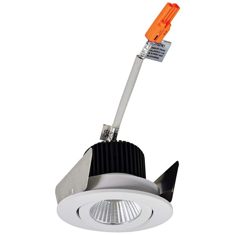 "Nora Iolite 2"" White Round Gimbal Remodel LED Retrofit Trim"
