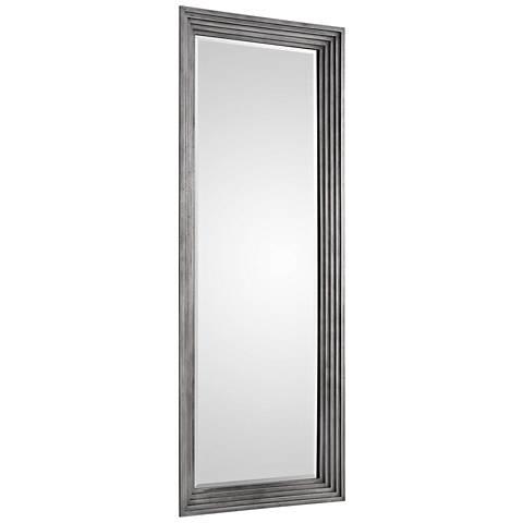 "Uttermost Dario Antique Silver 30 1/2"" x 78 1/2"" Wall Mirror"