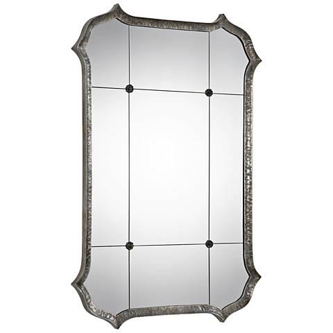 """Lesina Antique Silver 31 1/4"""" x 45 3/4"""" Wall Mirror"""