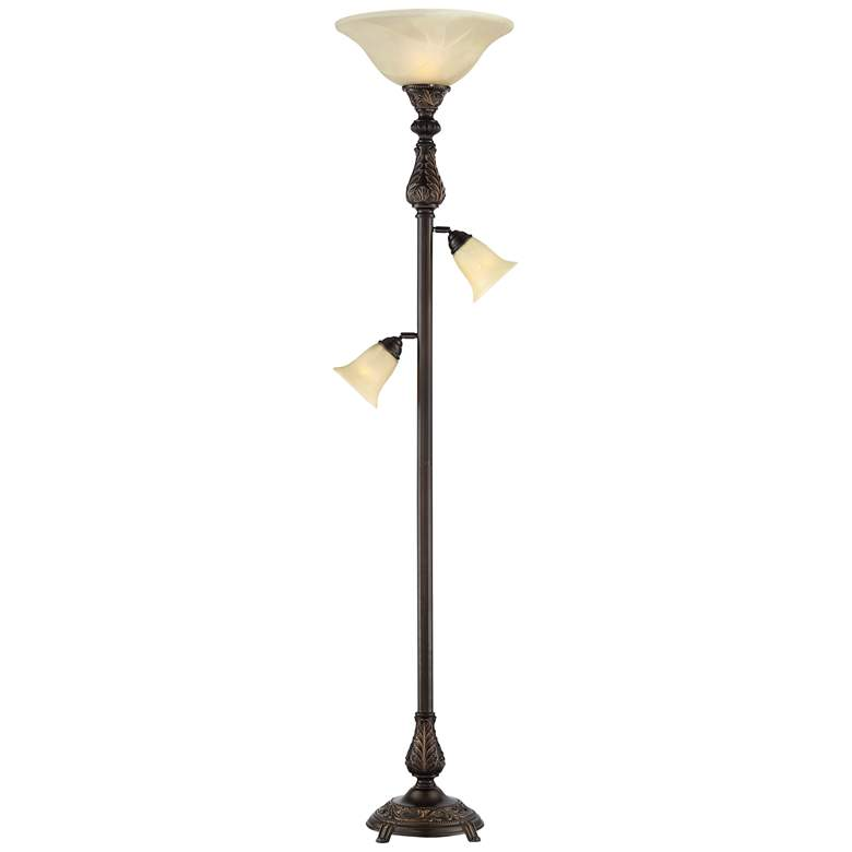 Barnes and Ivy Abbott Tree Torchiere 3-Light Floor Lamp