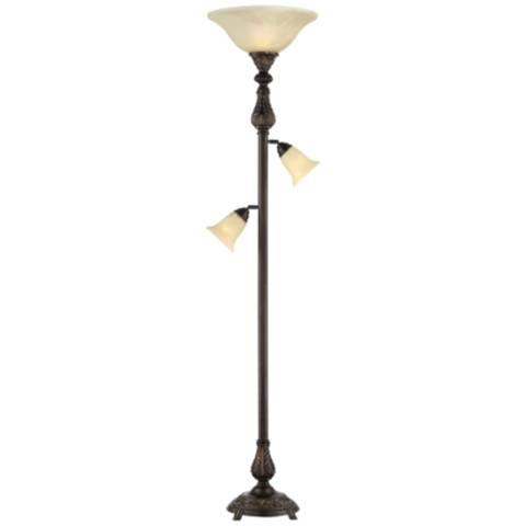 Barnes And Ivy Abbott Tree Torchiere 3 Light Floor Lamp