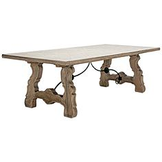 Seville Salvage Gray Wood Dining Table