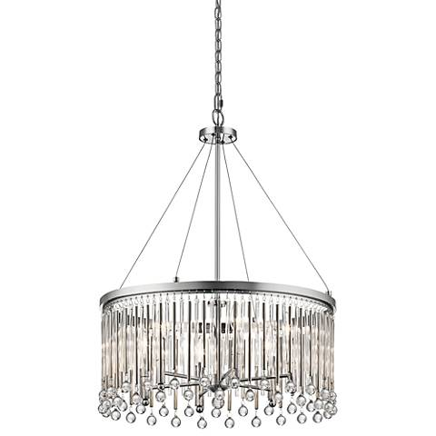"Kichler Piper 24"" Wide Chrome Pendant Light"
