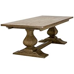 Camargue Albany Rustic Wood Pedestal Dining Table