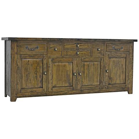 Hunslet Albany Rustic Wood 4-Door Sideboard