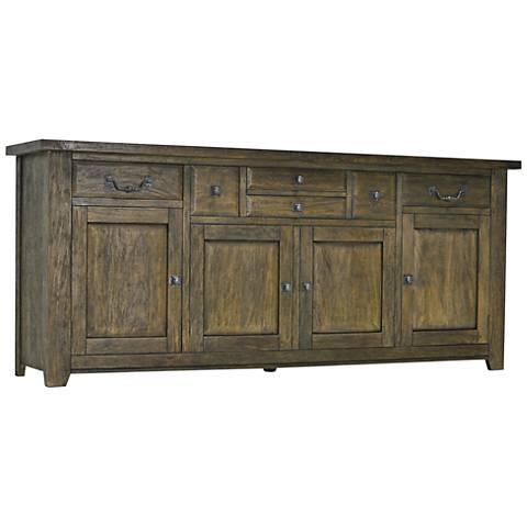 Hunslet New Driftwood Brown 4-Door Sideboard