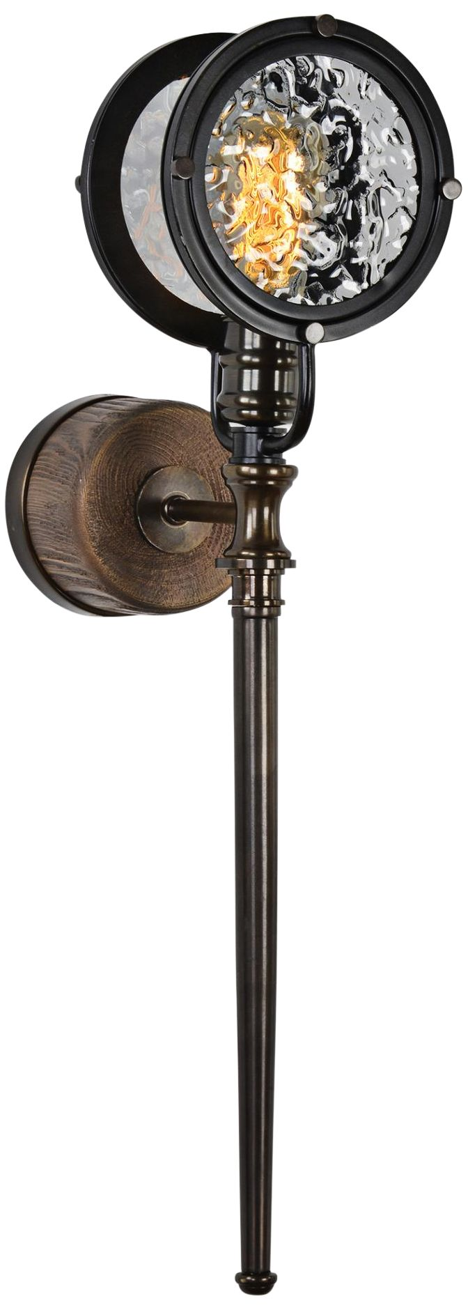 uttermost gavia 27 1 4   high brass and walnut wall sconce uttermost contemporary sconces   lamps plus  rh   lampsplus