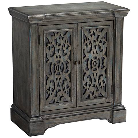 Midvale Textured Gray-Blue 2-Door Cabinet