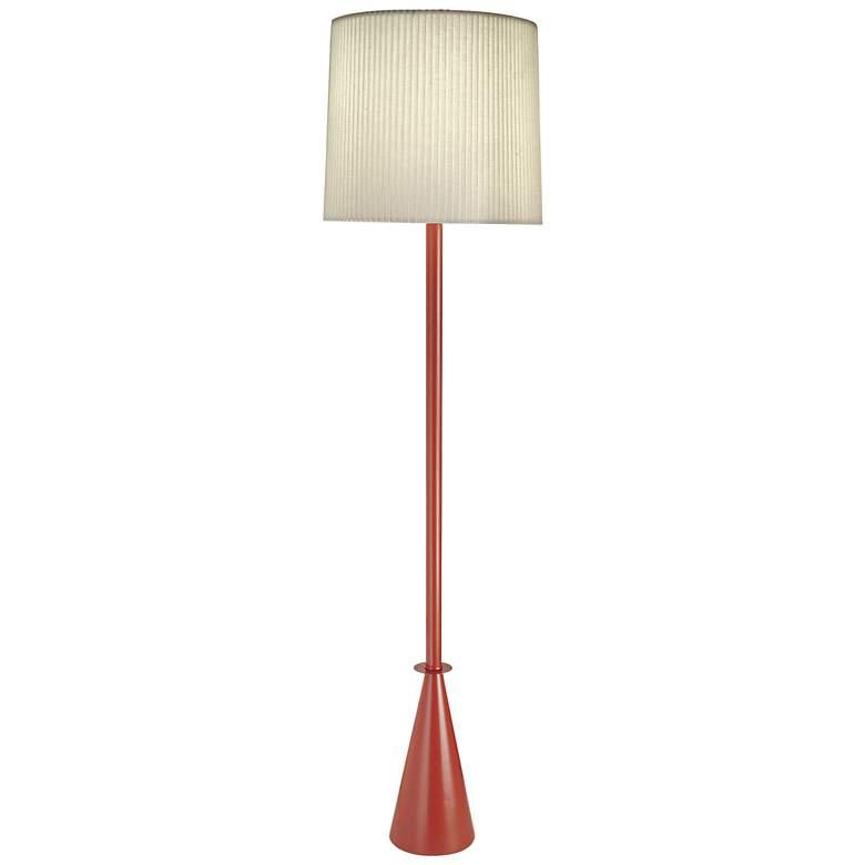 Stiffel Carson Converse Maple Leaf Red Floor Lamp