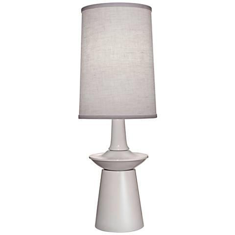 Carson Converse Gloss White Table Lamp w/ Aberdeen Shade