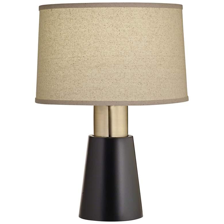 Carson Converse Semi Black Accent Table Lamp w/ Bombay Shade