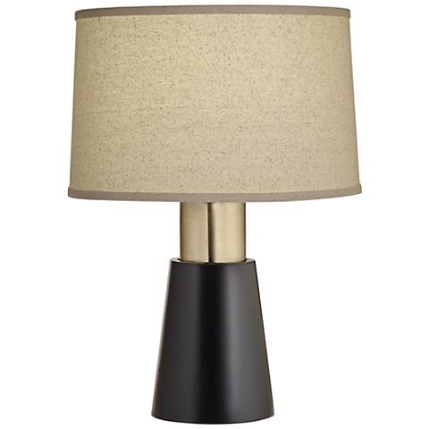 Carson Converse Semi Black Accent Table Lamp w/ Bombay Shade